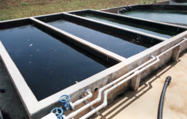 Image shows leachate tanks, often used as part of leachate treatment systems. Leachate awaiting removal to a POTW.